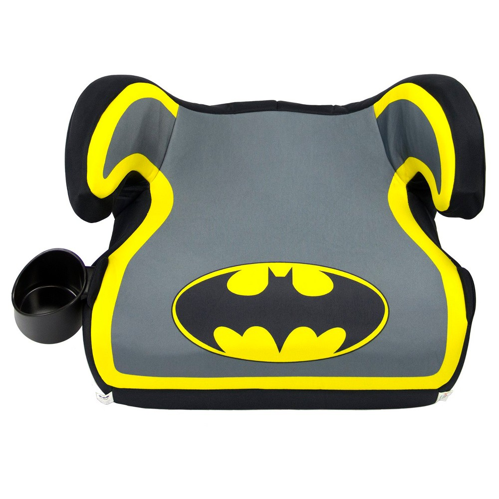Image of KidsEmbrace DC Comics Batman Backless Booster Car Seat, Yellow Gray Black