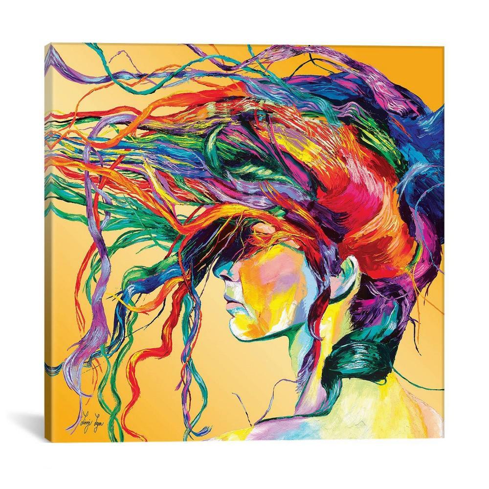 Windswept by Linzi Lynn Canvas Print 18 x 18 - iCanvas, Yellow