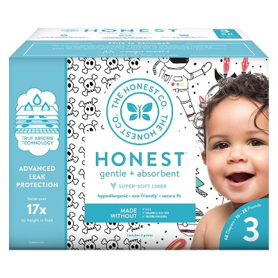 Honest Company Disposable Diapers Skulls & Space Travel - Size 3 (68ct)