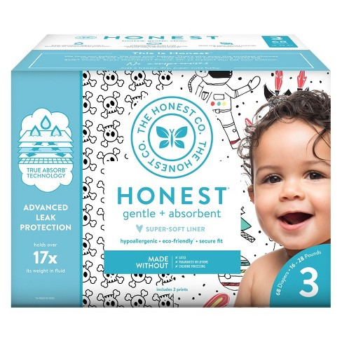 Honest Company Disposable Diapers - Size 3 (Select Pattern) - image 1 of 4