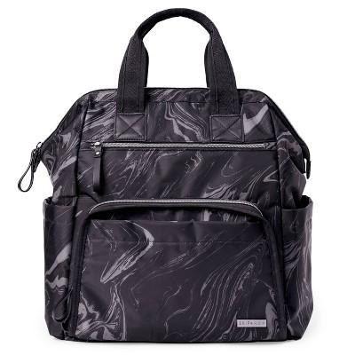 Skip Hop Mainframe Wide Open Diaper Bag Backpack - Black Marble