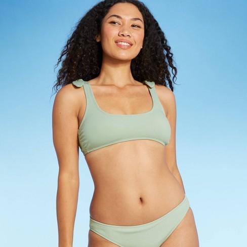 Juniors' Textured Shoulder Tie Bralette Bikini Top - Xhilaration™ - image 1 of 4