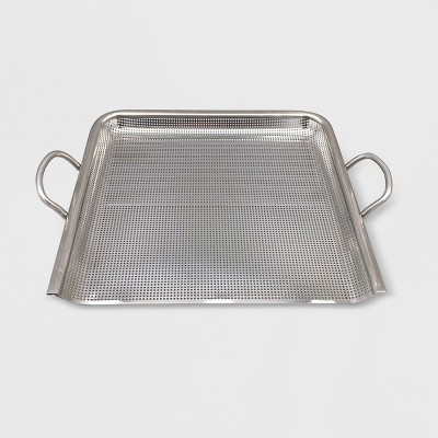 Steel Grill Topper Pan - Silver - Made By Design™