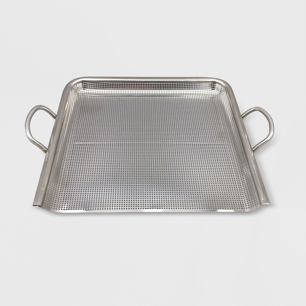 Steel Grill Topper Pan – Silver – Made By Design 53838425