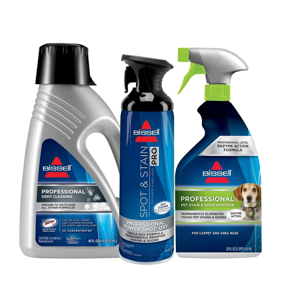 Bissell Professional Formula Kit for Upright Carpet Cleaning 5317, Clear
