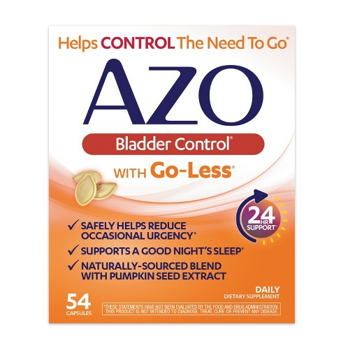 Azo Bladder Control >> Azo Bladder Control With Go Less Capsules 54ct Target