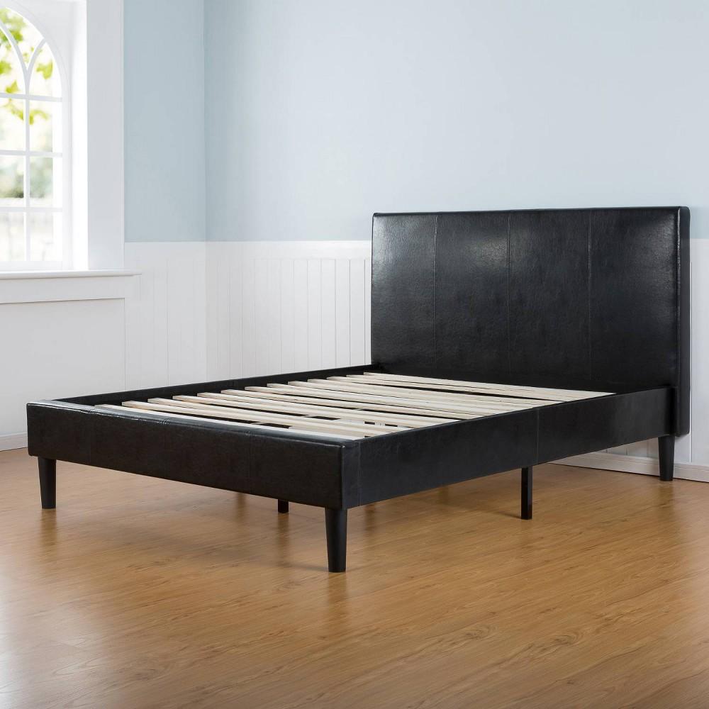 Image of Sleep Revolution Platform Bed Faux Leather Dark Brown King size