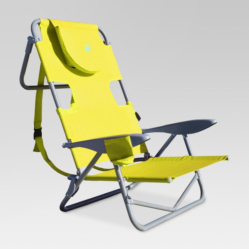 Image of Ostrich Face Down Backpack Beach Chair Green - Deltess