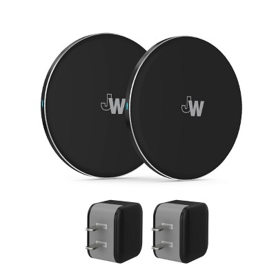 Just Wireless 2pk 5W Qi Wireless Charging Pads (with Wall Adapters)- Black