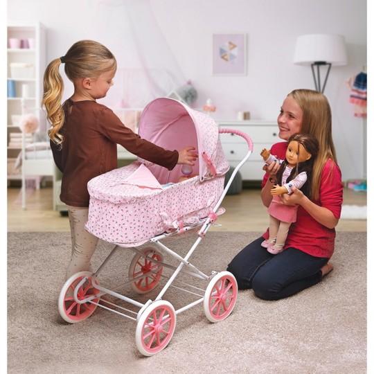 Badger Basket Rosebud 3-in-1 Doll Carrier/Stroller - Pink image number null