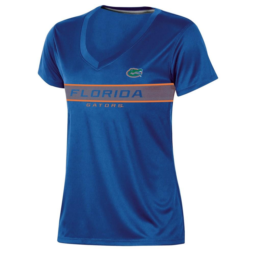 Florida Gators Women's Short Sleeve V-Neck Performance T-Shirt - S, Multicolored