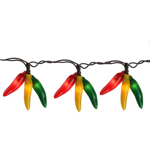 Northlight 36ct Chili Pepper Clustered String Lights - Brown Wire - image 1 of 3