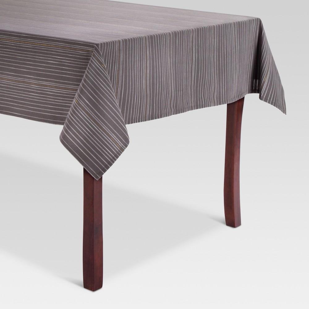 Gray Stripe Tablecloth (52x70) - Threshold, Radiant Gray