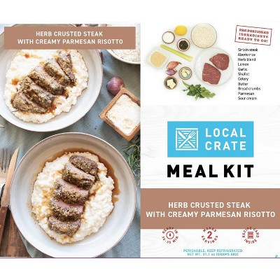Local Crate Herb Crusted Steak with Parmesan Risotto Meal Kit - Serves 2 - 31.1oz