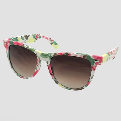 1c5da93fa Women's Surf Shade Sunglasses With Floral Print - Wild Fable™ White ...