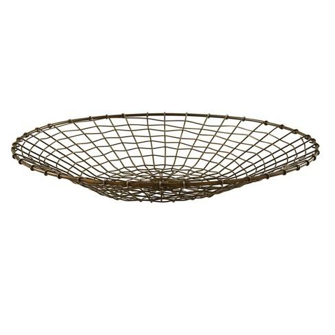 Split P Round Brass Wire Basket - Gray - image 1 of 3