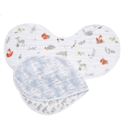aden and anais 2pk Burpy Bib - Naturally