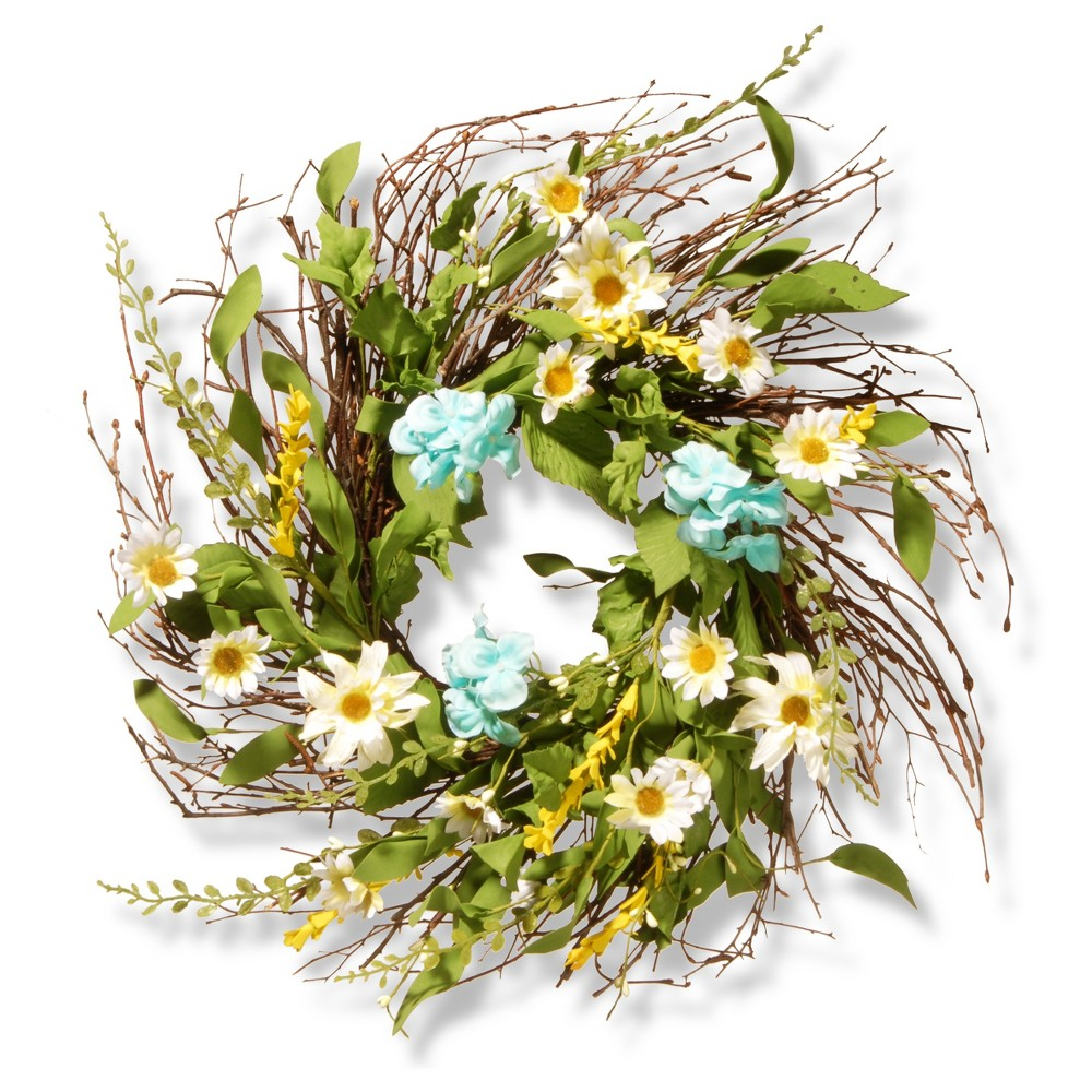 Artificial Sunflower Wreath Yellow 22 - National Tree Company