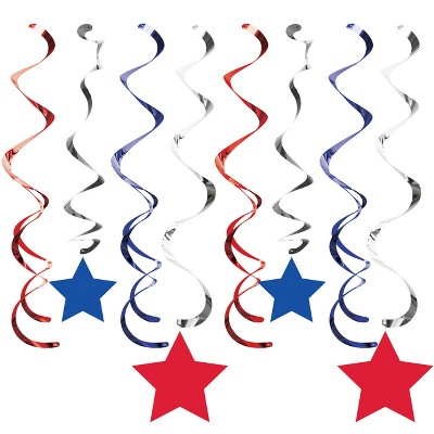 8ct Patriotic Dizzy Danglers