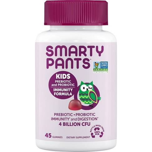 SmartyPants Kids Prebiotic and Probiotic Immunity Formula Gummies - Grape - 45ct - image 1 of 4