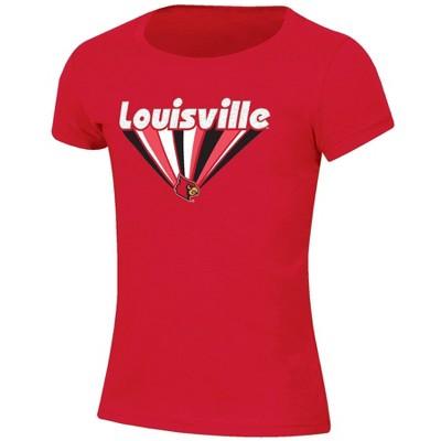 NCAA Louisville Cardinals Girls' Short Sleeve Scoop Neck Red T-Shirt