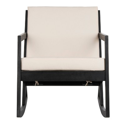 Vernon Rocking Chair - Black/White - Safavieh