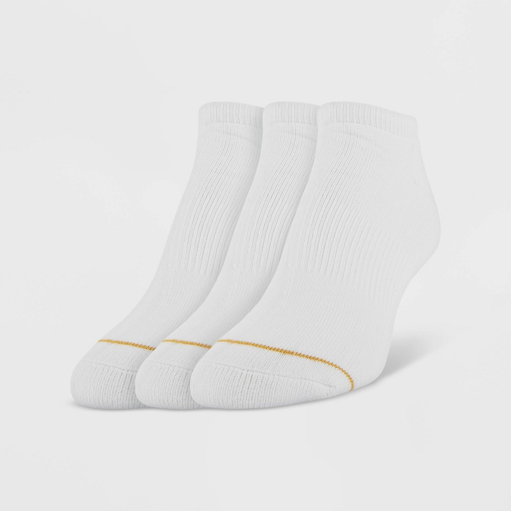Image of All Pro by Gold Toe Women's Full Cushion Retention 3pk No Show Athletic Socks - White 4-10, Size: Small
