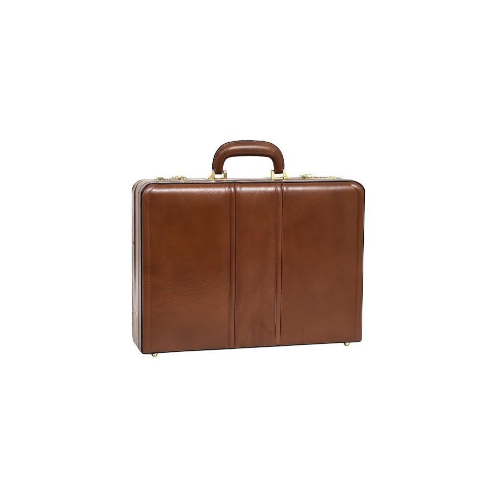 McKlein Coughlin Leather 4.5 Expandable Attache Briefcase (Brown)