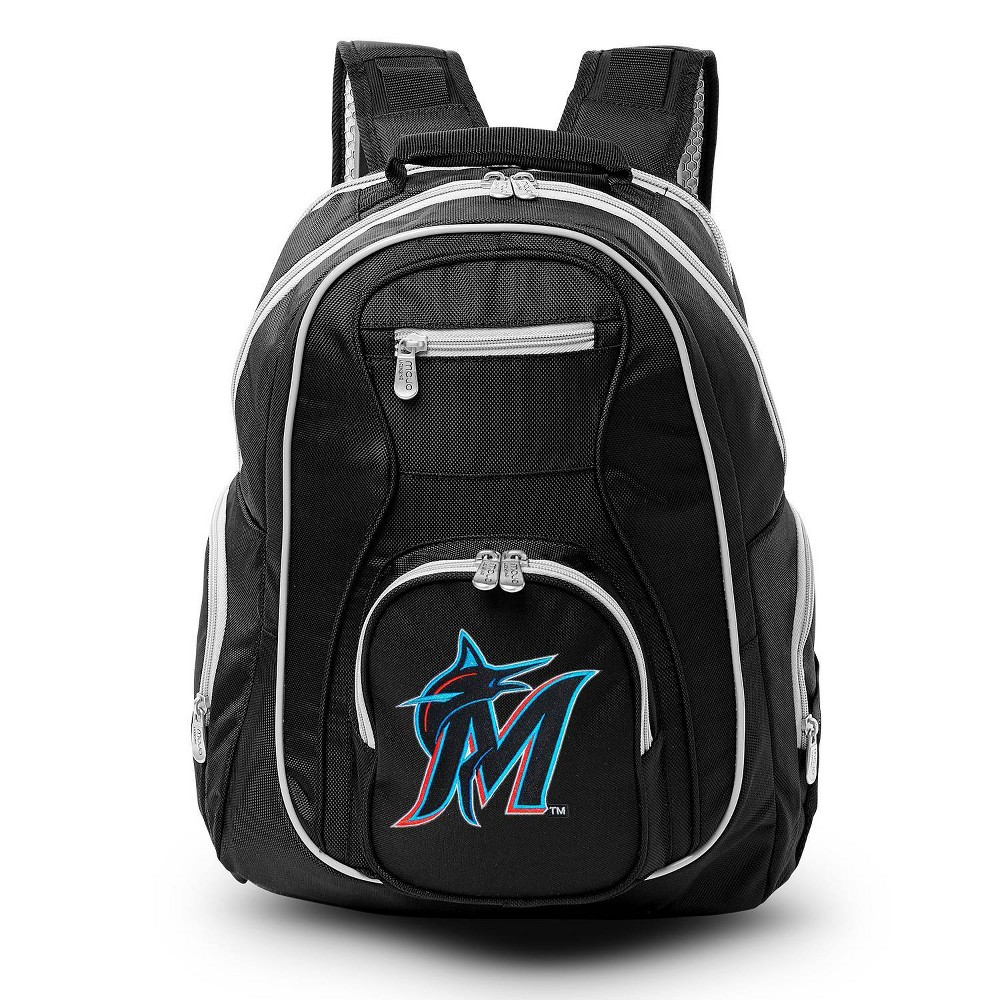 Mlb Miami Marlins Colored Trim Laptop Backpack