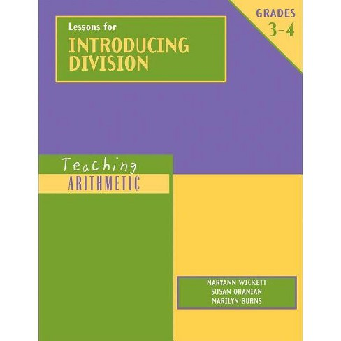 Lessons for Introducing Division, Grades 3-4 - (Teaching Arithmetic) (Paperback) - image 1 of 1