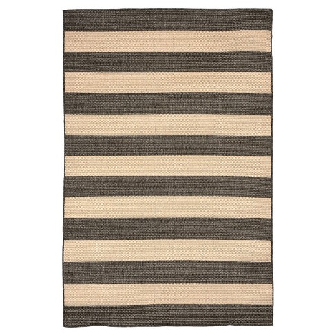 Terrace Rugby Charcoal Rug - Liora Manne - image 1 of 1