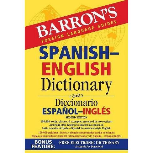 Spanish-English Dictionary - (Barron's Bilingual Dictionaries) 2 Edition By  Ursula Martini (Paperback) : Target