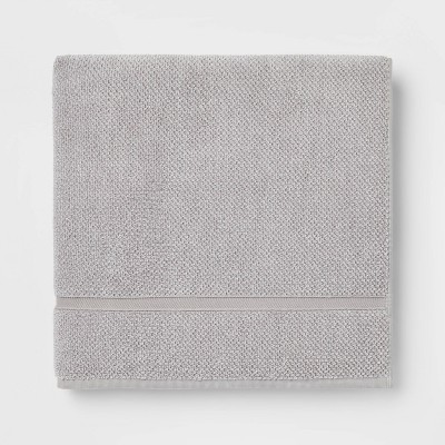 Performance Texture Bath Sheet Light Gray - Threshold™