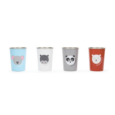 Red Rover 10oz 4pk Stainless Steel Kids Animal Tumbler Cups
