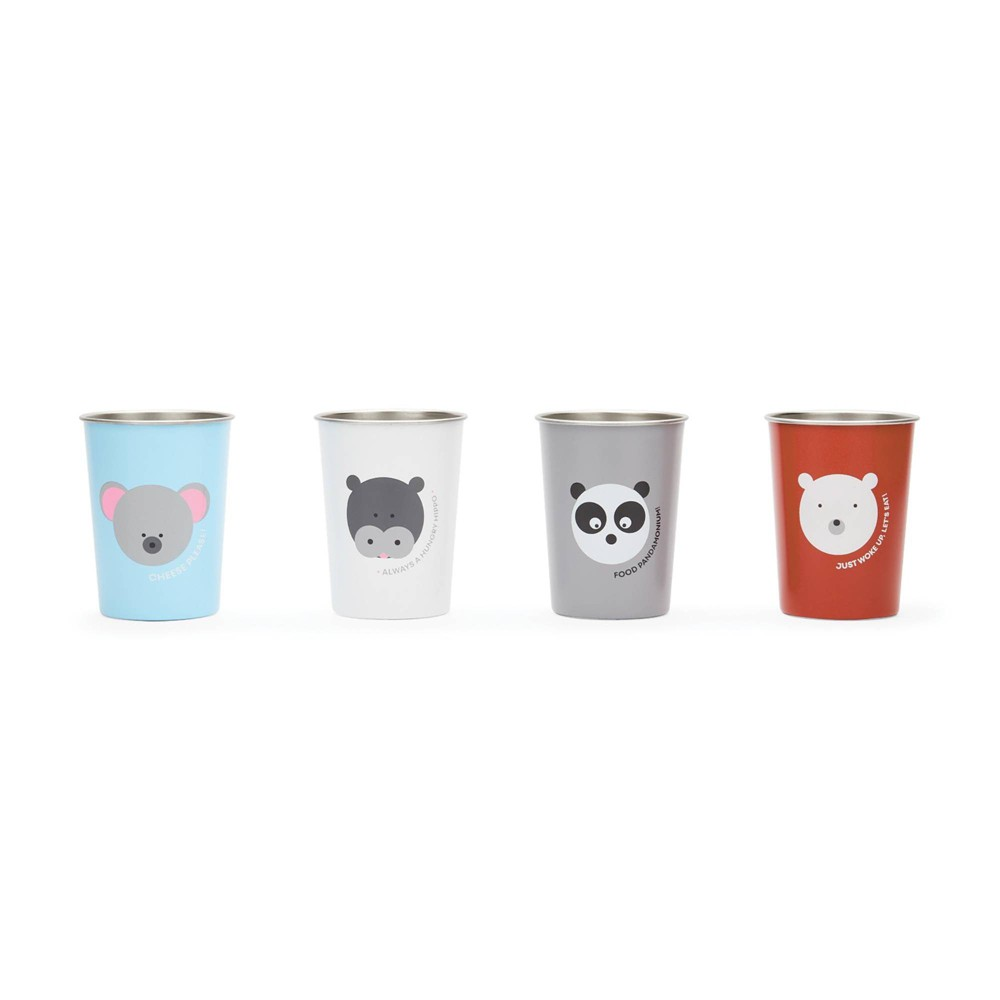 Image of Red Rover 10oz 4pk Stainless Steel Kids Animal Tumbler Cups