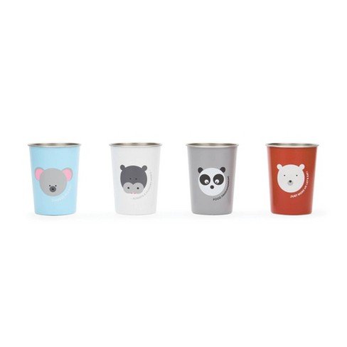Red Rover 10oz 4pk Stainless Steel Kids Animal Tumbler Cups - image 1 of 4