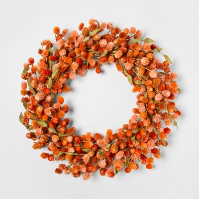 21.2  Dried Thistle Wreath Orange - Smith & Hawken™