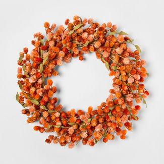 21.2u0022 Dried Thistle Wreath Orange - Smith & Hawken™