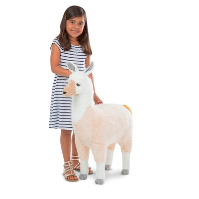 Melissa & Doug Standing Lifelike Plush Llama Stuffed Animal (31  x 30   x 9.5 )