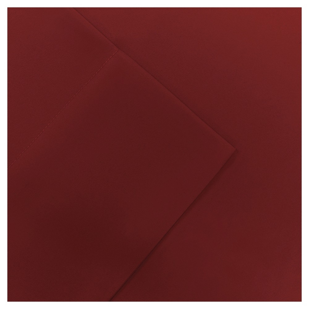 Full Micro Splendor Ultra Soft Wrinkle Free Microfiber Sheet Set Red