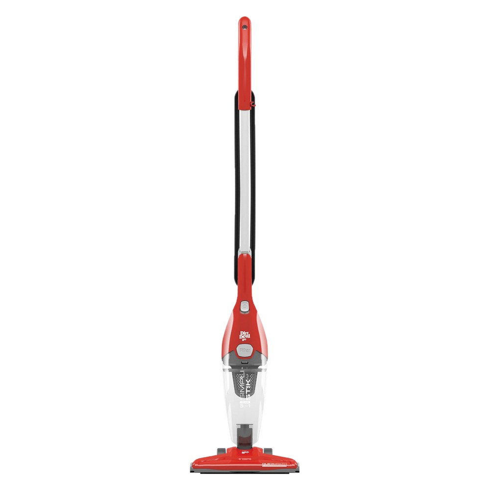 Image of Dirt Devil SimpliStik Plus Corded Stick Vacuum, Red