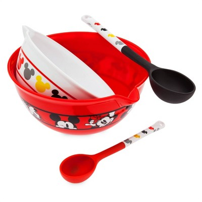 Mickey Mouse & Friends 2pc Plastic Bowl and Spoon Set - Disney store
