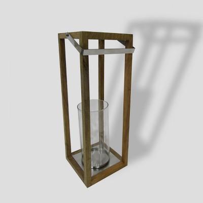 22  Square Wooden Outdoor Lantern - Smith & Hawken™