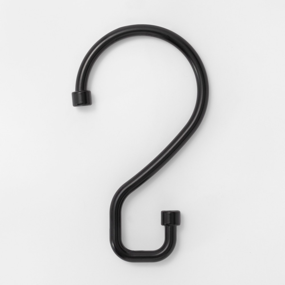 Image of S Hook Without Roller Ball Shower Curtain Rings Matte Black - Made By Design