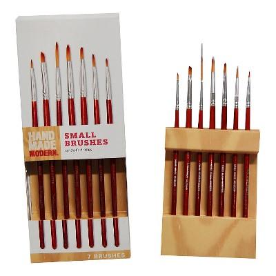 7ct Small Paint Brush Set - Hand Made Modern®