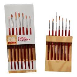 7ct Small Paint Brush Set Hand Made Modern®