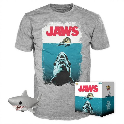Funko POP! Movies Collectors Box: JAWS Great White Shark POP! & Tee - Gray (Target Exclusive) - image 1 of 6