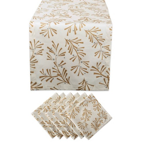 Holly Leaves Table Set Metallic - Design Imports - image 1 of 4