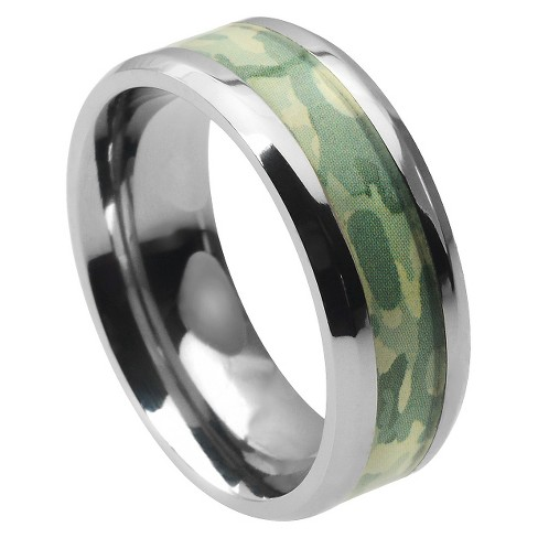 Men's Daxx Titanium Band with Camouflage Inlay (8mm) - image 1 of 2