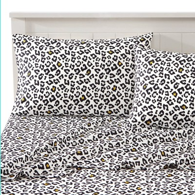 Smiley Leopard Novelty Printed Sheet Set - Joe Boxer